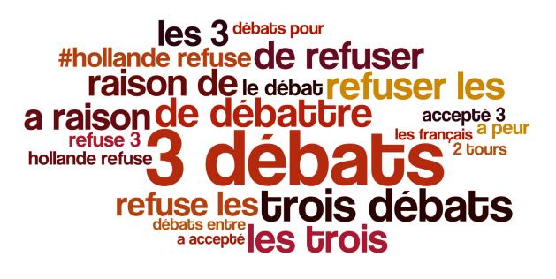 Les débats et Hollande