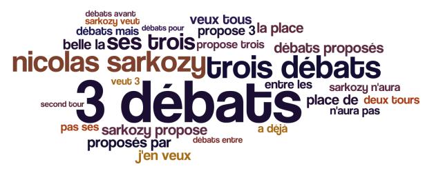 Les débats et Sarkozy